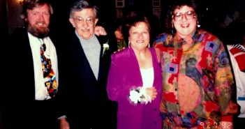 John, Sid, Bernice & Robin at the wedding of Sid's son