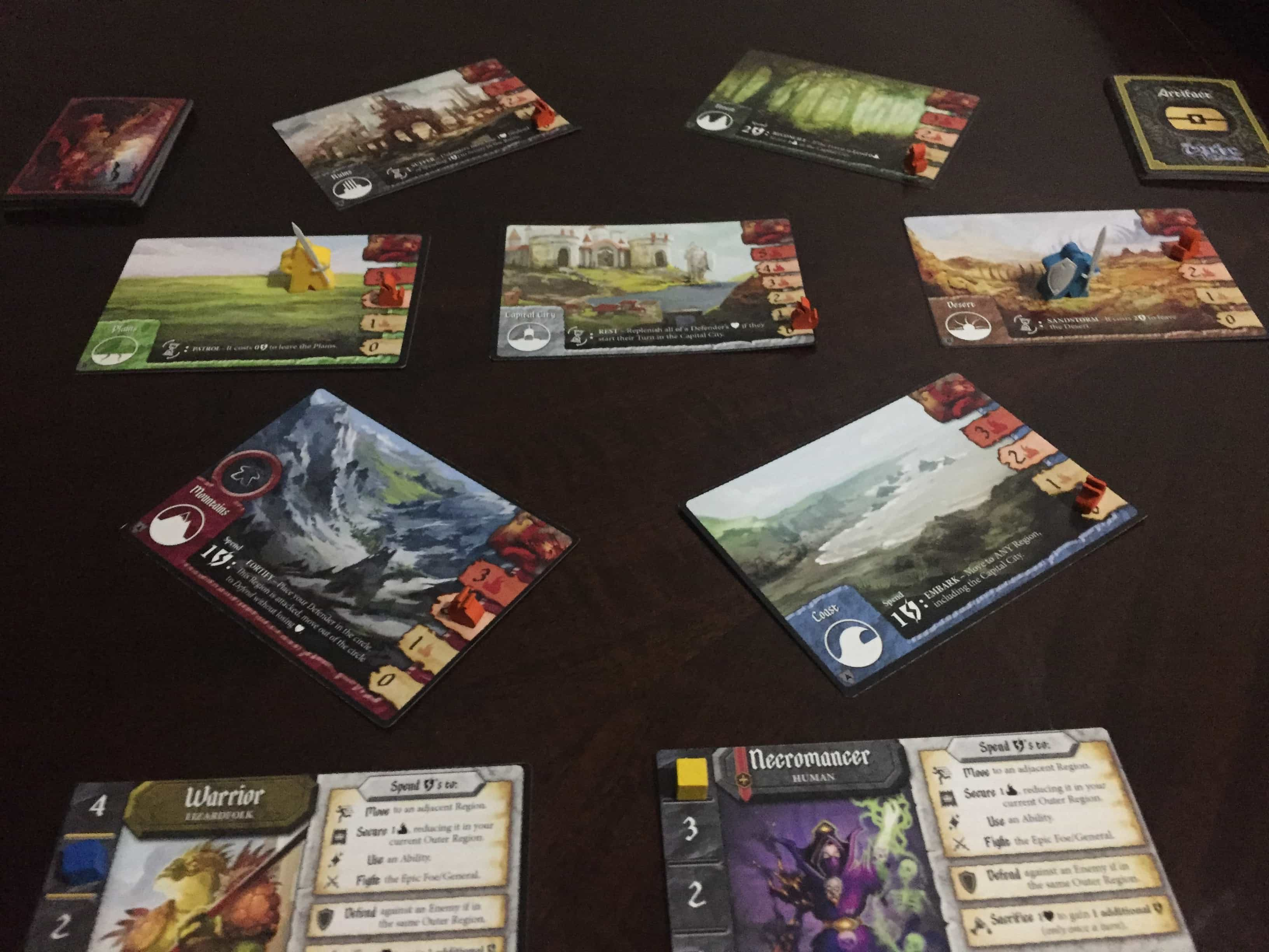 tiny epic defenders 2017 edition review kickstarter board